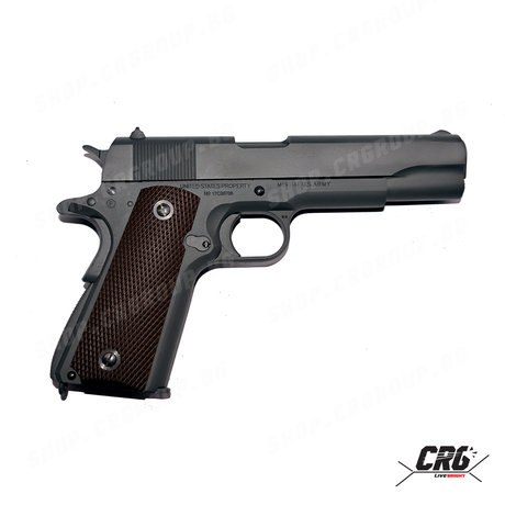 Еърсофт CO2 пистолет с откат Cybergun Colt 1911 100Th Anniversary 6mm GBB 1.4J
