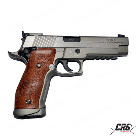 Еърсофт CO2 пистолет с откат Cybergun SIG SAUER X-FIVE Hairline GBB 1.4J