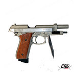 Еърсофт CO2 пистолет с откат Cybergun TAURUS PT92 Hairline Silver Co2 GBB full metal 1.1J